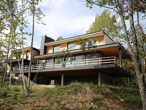 maison moderne vue extérieur